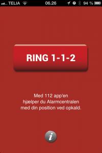 112app på iPhone